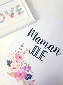 Affiche Maman jolie
