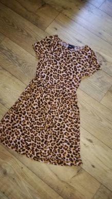 Robe courte ASOS imprimé léopard