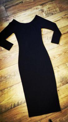 Robe fuseau noir ZARA