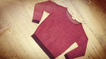 Blouse PULL AND BEAR léopard rouge.