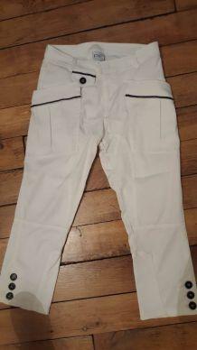 pantalon blanc Paola Frani