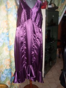 ROBE SATIN DE SOIREE T.50/52