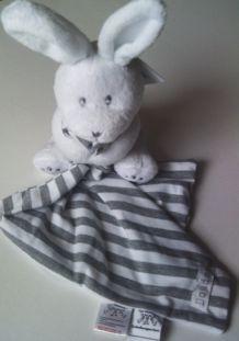 Doudou mouchoir lapin chic