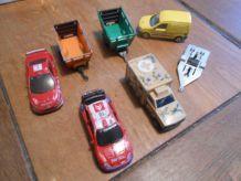 LOT MAJORETTE REMORQUE PLATEAU LA POSTE AMBULANCE XSARA WRC PEUGEOT 307