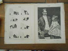 VIEUX PAPIER 1892 SPECIAL NOEL HISTOIRE SANS PAROLE DE CARAN D'ACHE PARTITION NOEL EN LORRAINE LHERMITTE