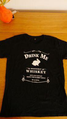 "T-shirt en coton bio ""Drink me"""