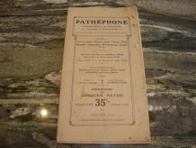 repertoire pathéphone 120 euros