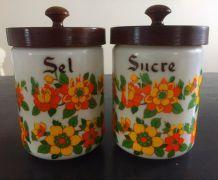 Pots à sel et sucre vintage 70