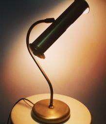 Lampe de Bureau Chrome Doré. Année 50