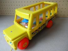 Grand bus jaune FISHER PRICE 1965 VINTAGE