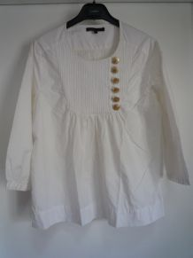 Blouse blanche Maje T. 2(38). coton
