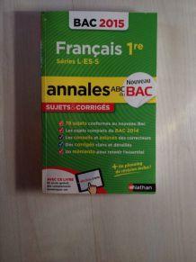 annal de bac de français 1ere