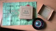Rare et ancien mini jeu de roulette/casino made in France, années 1950