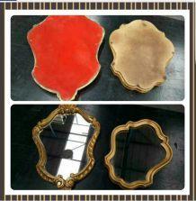 Lot de 2 ancien miroir d'époque dorée