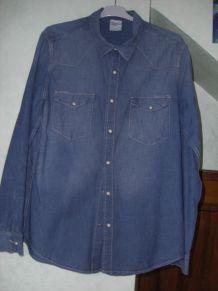 chemise façon jean H&M