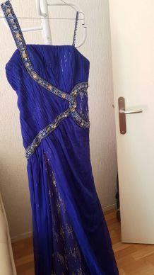Robe de soiree bleu électrique