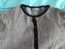 Gilet fin gris et noir