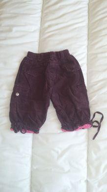 Pantalon velours épais fille 12 mois TAO
