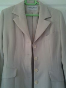 Veste beige longue Chantal ROSNERT