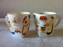 Lot de 2 mugs made in england