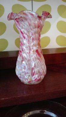 Vase vintage blanc et rose