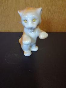 Figurine de petit tigre porcelaine soviétique années 70