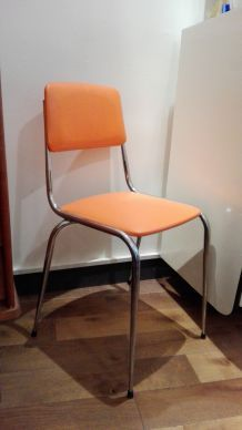 2 Chaises chrome et sky orange