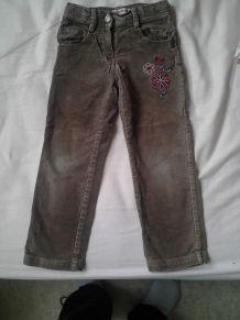 Pantalon velours marron