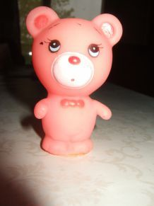 petit ours fluo rose
