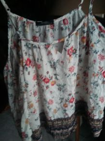 bershka top blouse épaules nues