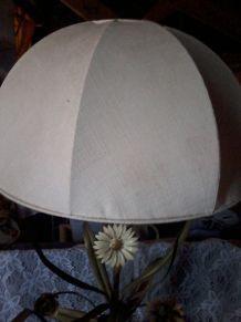 lampe boule feuilles vinage