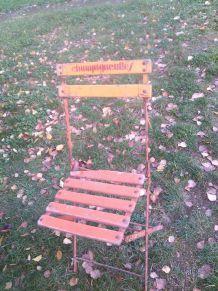 chaise ancienne pliante