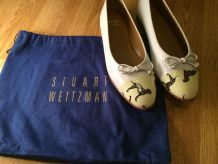 Chaussures ballerines Stuart Weitzman en cuir blanc