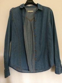 Chemise fine en jean Urban Outfitters