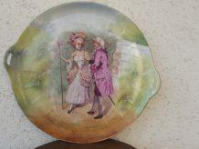 plat rond marquise en porcelaine de Limoges