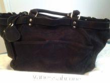 Très beau sac à main en nubuck noir Vanessa Bruno