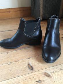 bottines noires André chelsea boots