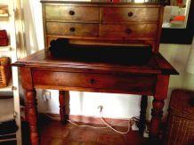 Bureau type secrétaire bois chevillé à l'ancienne