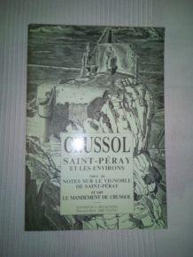 """LIVRE """"CRUSSOL, SAINT PERAY ET LES ENVIRONS"""""""