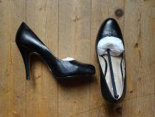 Escarpins cuir noir 36