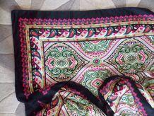 Très grand foulard épais à motif
