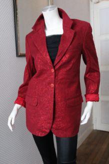Veste blazer dandy laine rouge cerise T 38 UNGARO
