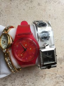 Lot de montres (dont swatch)