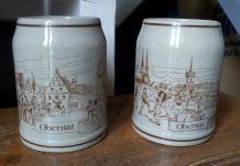 4 chopes à bière d'Obernai (Alsace)