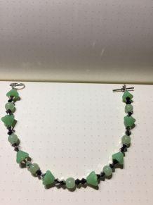 Bracelet fleurs et argent