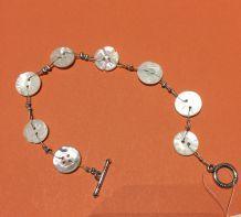 Bracelet boutons nacre anciens