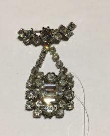 Superbe broche strass cristal Années 60