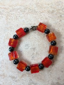 Bracelet givré orange