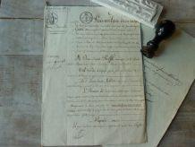 Acte notarié 1822