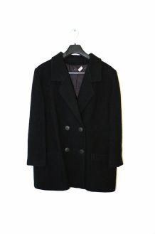 Manteau caban femme boyfriend noir pur laine bouillie Taille 40 TTBE